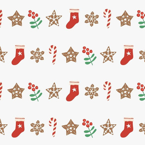 Christmas Items In Rows