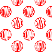 Polka dot clowns red