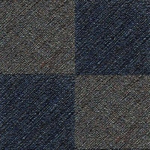 Blue and Gray Rough Checks