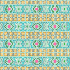 folk art - fringy tropical gems MINT- mirrorMED117
