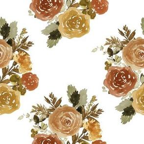 """8"""" Autumn Day Bouquet Sepia White"""