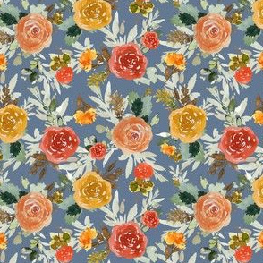 "4"" Autumn Day Florals Smoke Back"