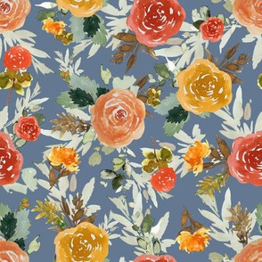 "8"" Autumn Day Florals Smoke Back"