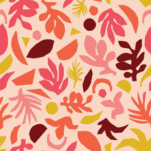 Abstract Leaves Pink