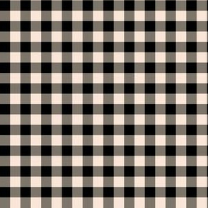 "6"" Black and Ivory Gingham"