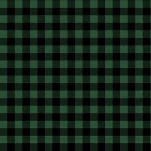 "6"" Green and Black Gingham"