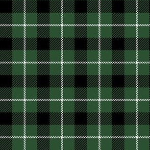 "6"" Green and Black Plaid"
