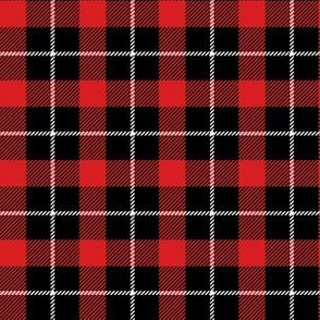 "6"" Red Black and White Plaid"