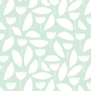 Scandi florals in mint