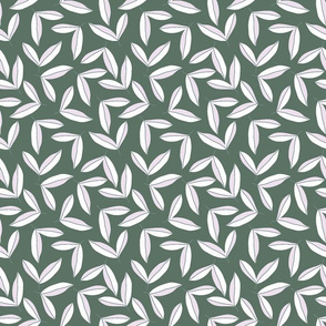 Coffee leaves recolored green