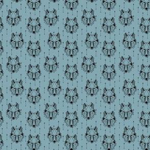 TINY Geometric Wolf + Arrows (blue pond) Geo Wolves Woodland Animals Baby Boy Nursery Bedding