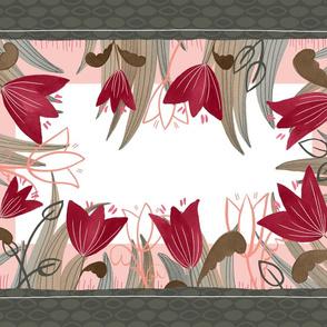 Tulip Garden Tea Towel