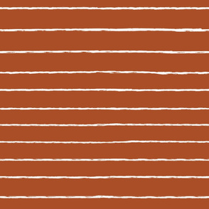 thin white stripes on rust - large