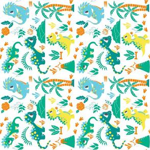 Dinosaur Print Tea Towel