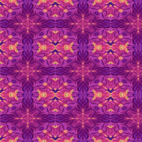 Summer Fields of Purple Flowers Fractal Abstract