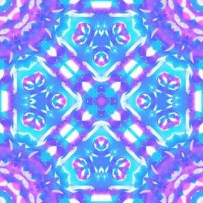Purple cyan kaleidoscope
