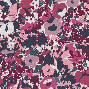 Magenta Abstract Floral