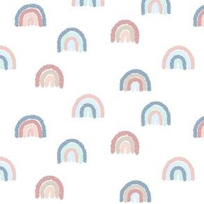 """1"""" Sprinkled Rainbows - Pastel"""