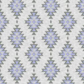 Kilim - lavender and grey