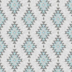 Kilim - aqua and grey