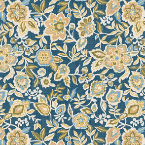Navy Global Jacobean