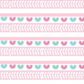 Aztec border - pink