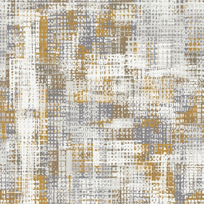 Grey and Gold Artistic Grid