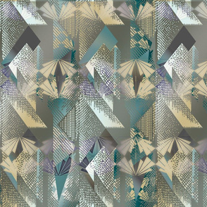 Olive Green Eclectic Deco