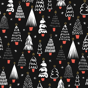 Abstract Modern Christmas TRees