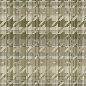 Olive Houndstooth Plaid