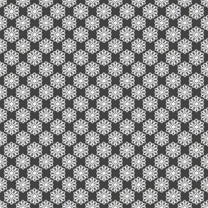 Ink medallions on dark gray 2x2