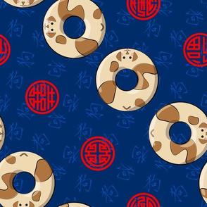Chinese Zodiac Donuts Dog