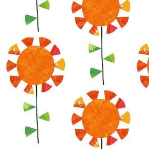 Sunflowers (white)