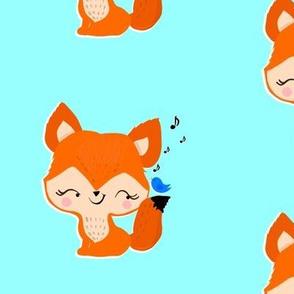 Lil Fox and a bluebird