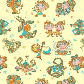 Boho Zodiac Juvenile ~ Yellow