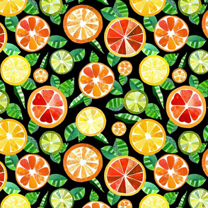 Zesty Citrus Collage