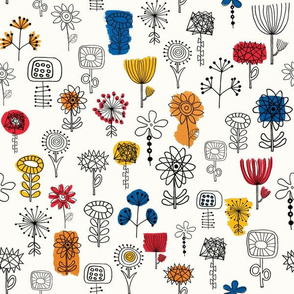 Flower Brush pattern - small