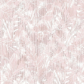 Light Pink Tropical Floral Sketch