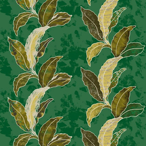 Green Palm Leaf Stripe