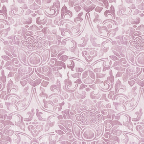 Plum Tropical Damask
