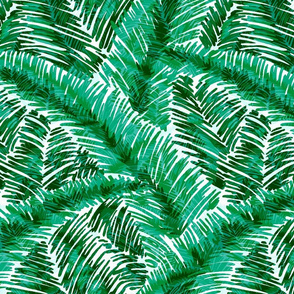 Bright Green Palm Texture