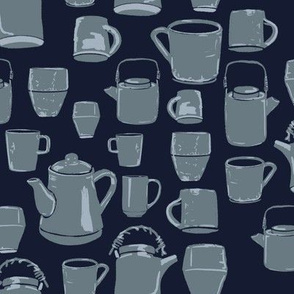 Tea Party - Blue and Grey