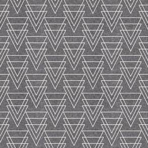 GEOMETRIC ARROW LINEN SMALL