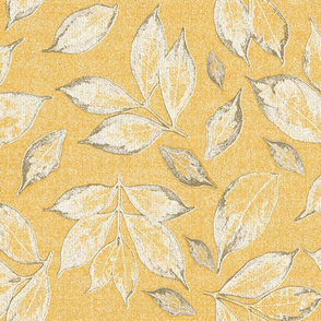 leaves on gold