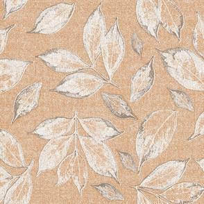 leaves on peach