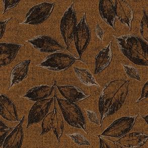 leaves on bronze