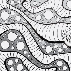 Tangle Gray Flower