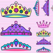 Princess Crowns large JUMBO print size mariastar
