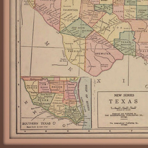Texas map - vintage, large
