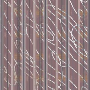 Mauve Doodle Stripe